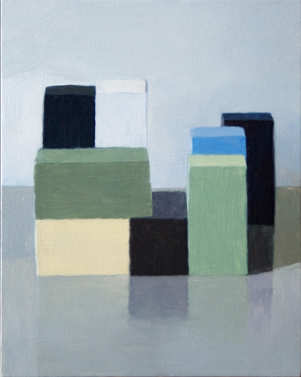 Cohere Green Blue, 2013 Oil on panel, 10 x 8 inches SOLD
