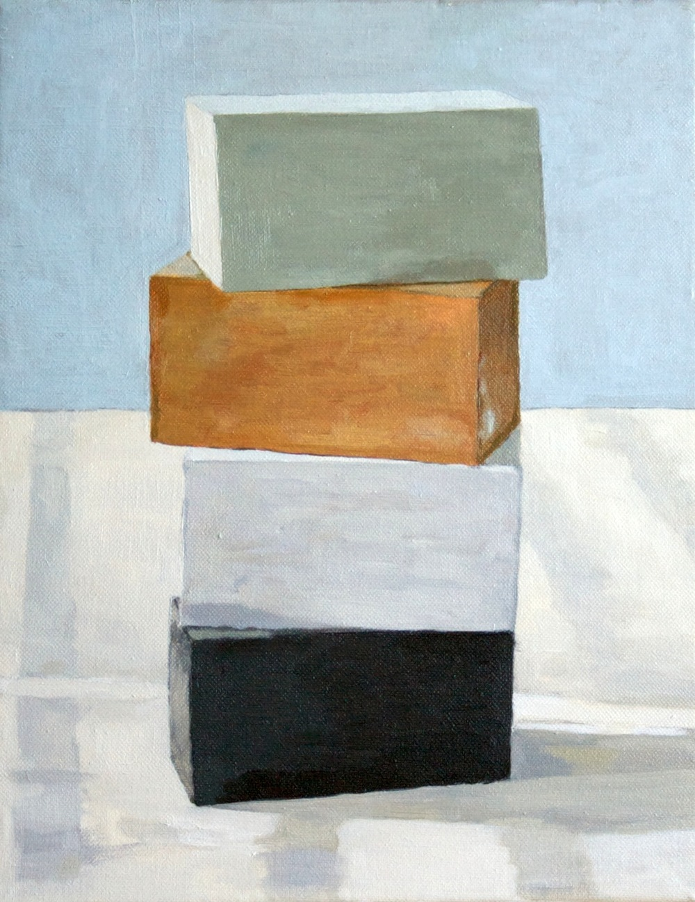 Blind Stack, 2011 Oil on canvas, 14 x 11 inches