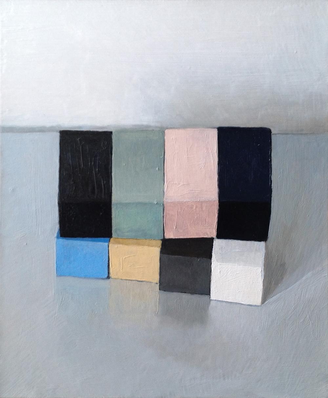 Downshift I , 2013 Oil on wood, 30 x 25 cm SOLD