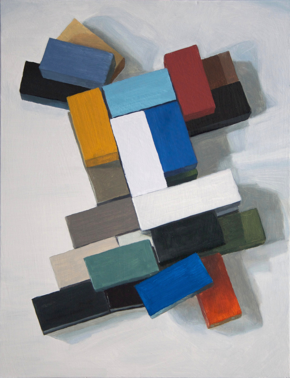 Left Angle , 2013 Oil on wood, 43 x 33 cm