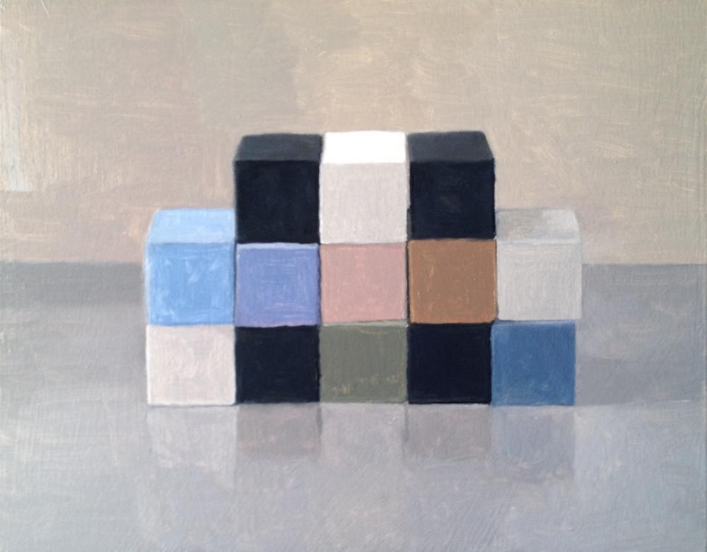 Study, Checkerboard VI , 2014 Oil on wood, 28 x 35 cm SOLD
