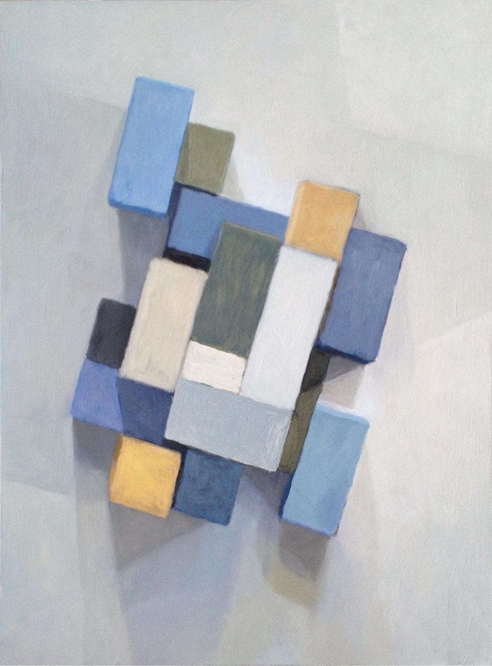Cross Light I, 2013  Oil on wood, 50 x 40 cm