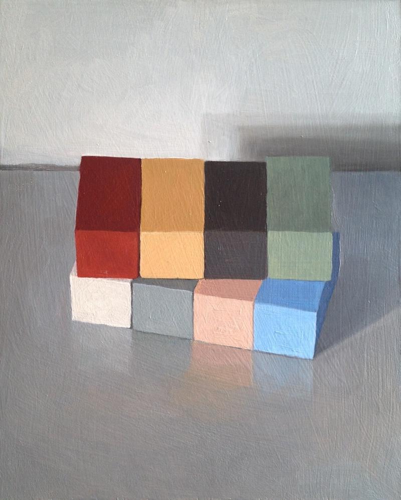 Downshift II, 2013 Oil on wood, 35 x 28 cm SOLD
