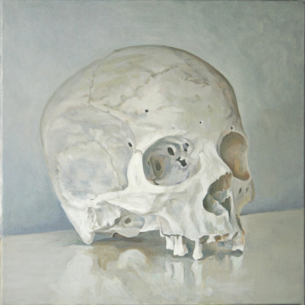 Small Skull, 2012-13 Oil on canvas, 18 x 18 inches $1180 + HST. Custom milled reveal frame, white-gray stained hard maple