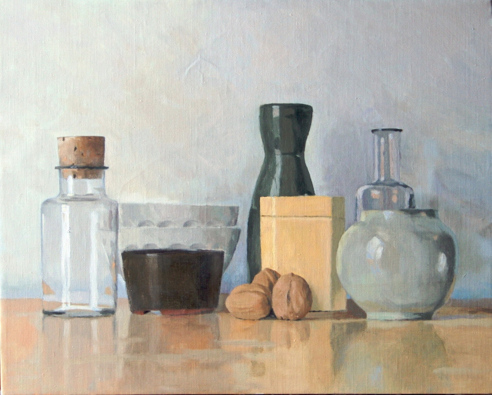 Still Life with Yellow Teabox and Walnuts, 2011 Oil on Linen, 16 x 20 inches $765 + HST. Unframed