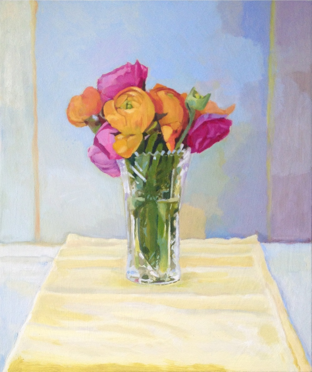 Ranunculus, 2013 Oil on wood, 20 x 16 inches $765 + HST. Unframed.