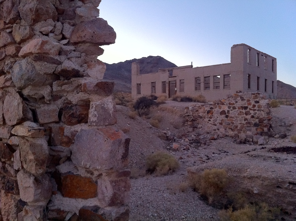 Abandoned buildings, Rhyolite