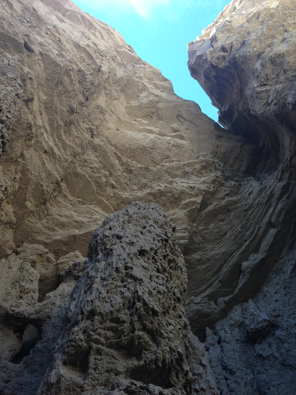 Some of the sand-castle-like mud formations in the Arroyo Tapiado