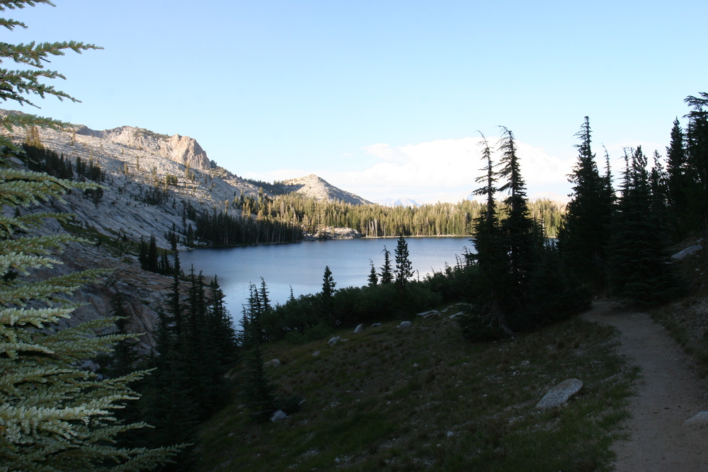 The trail around May Lake
