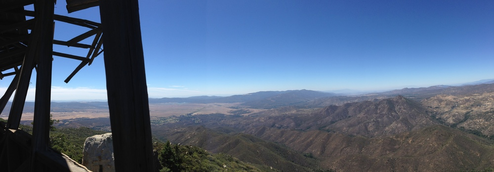 View from the ruined Fire Lookout on Hot Springs Mountain, August 2014