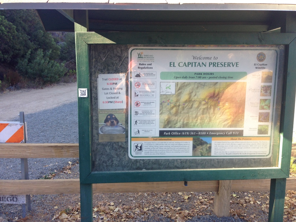 El Capitan Open Space Preserve Boundary, September 2014