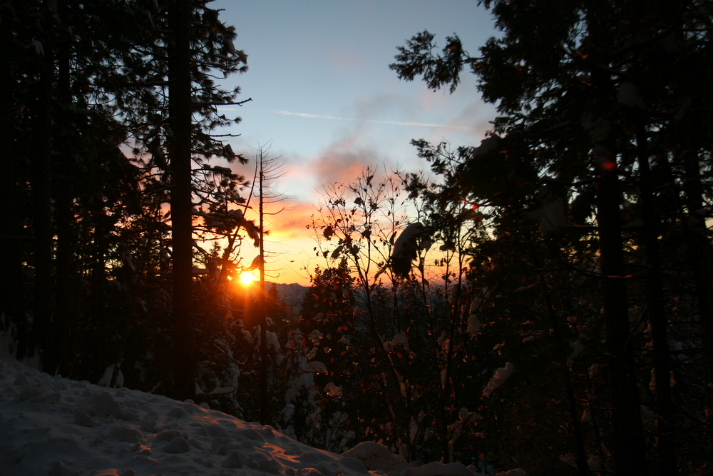 Sunset, Winter Yosemite