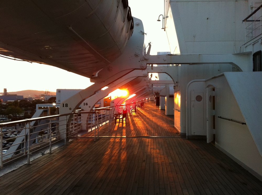 "Sunset, RMS Queen Mary, ""Ghost TIme?"""