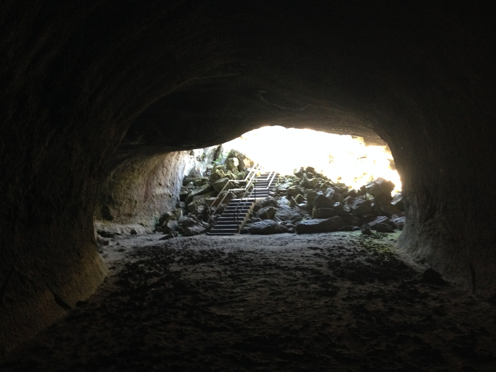 The Subway Cave features an enormous tunnel - perhaps to an ominous, fiery spot?
