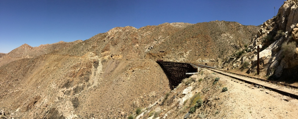 Goat Canyon Trestle, Southern view, April 2015
