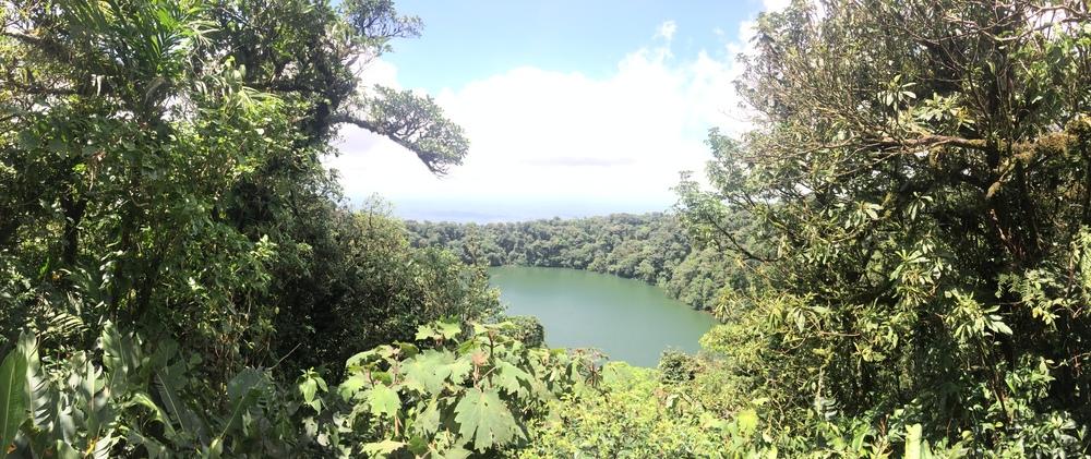 Rim, Cerro Chato, Laguna Lake Chato, below.