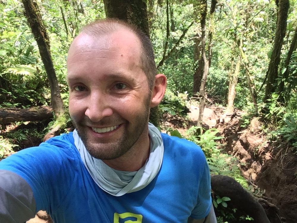 """Midway up the Cerro Chato ascent. Also pictured: Cerro Chato """"trail""""."""
