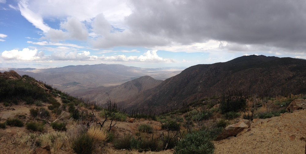 Kwaaymaii Point, facing east toward the Anza-Borrego Desert.
