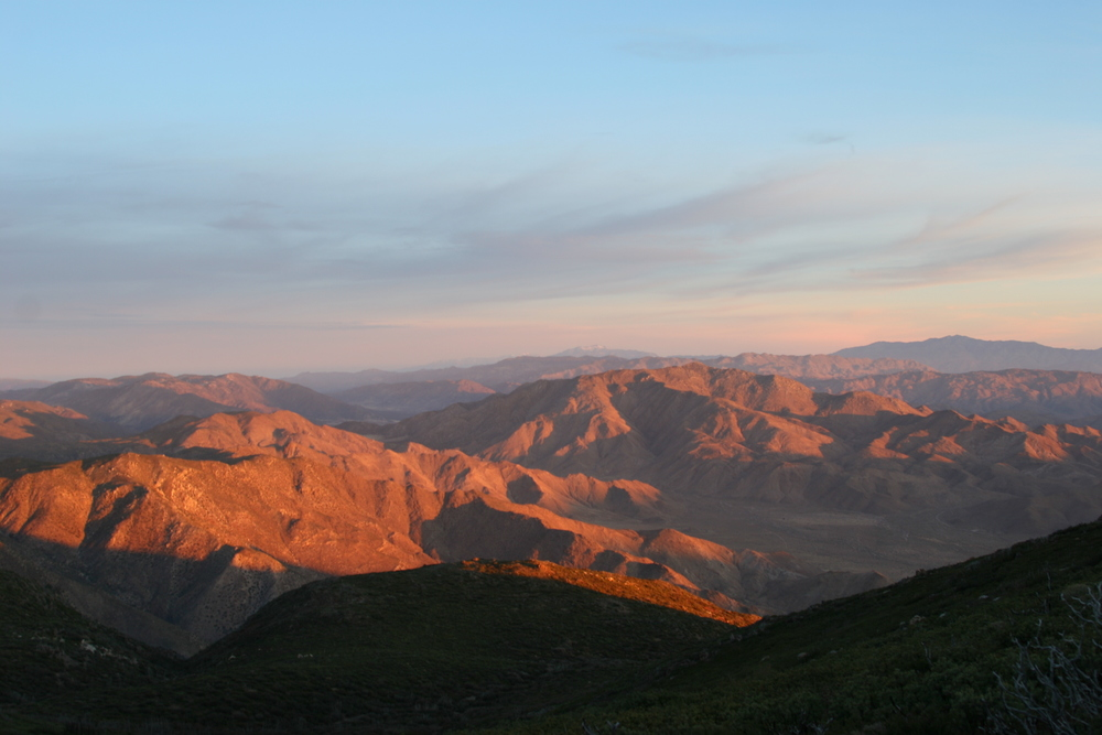 Some of the best sunrises in San Diego County can be seen along the Laguna Escarpment