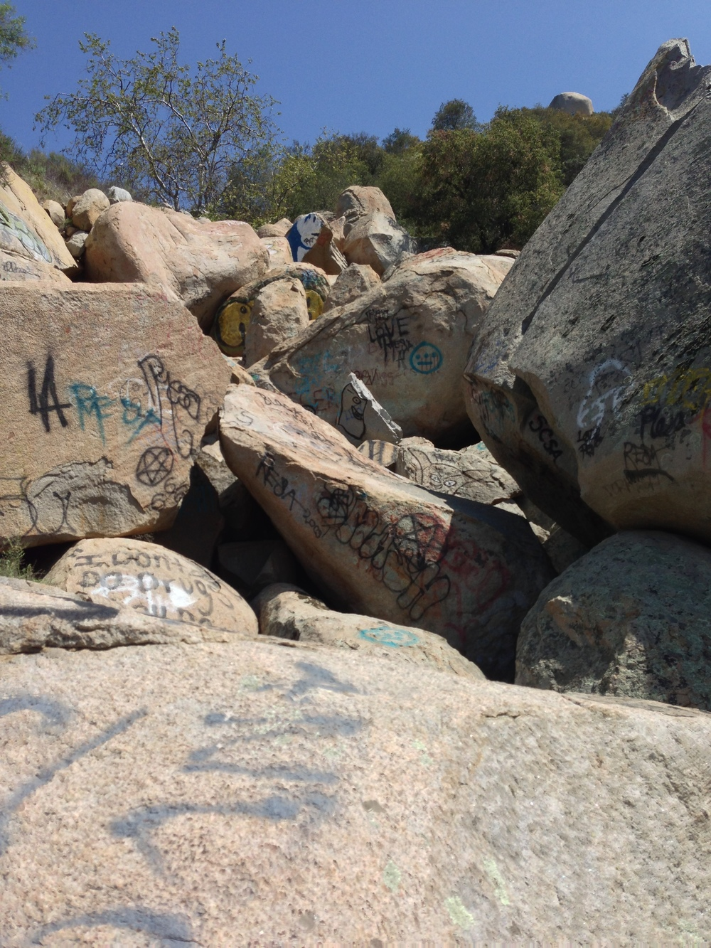 Graffiti, Lawrence Welk Caves