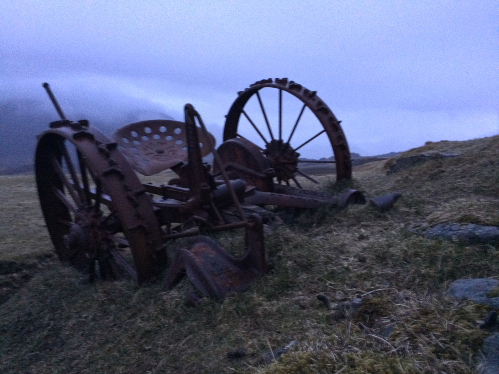 Abandoned farming equipment, East Coast Iceland