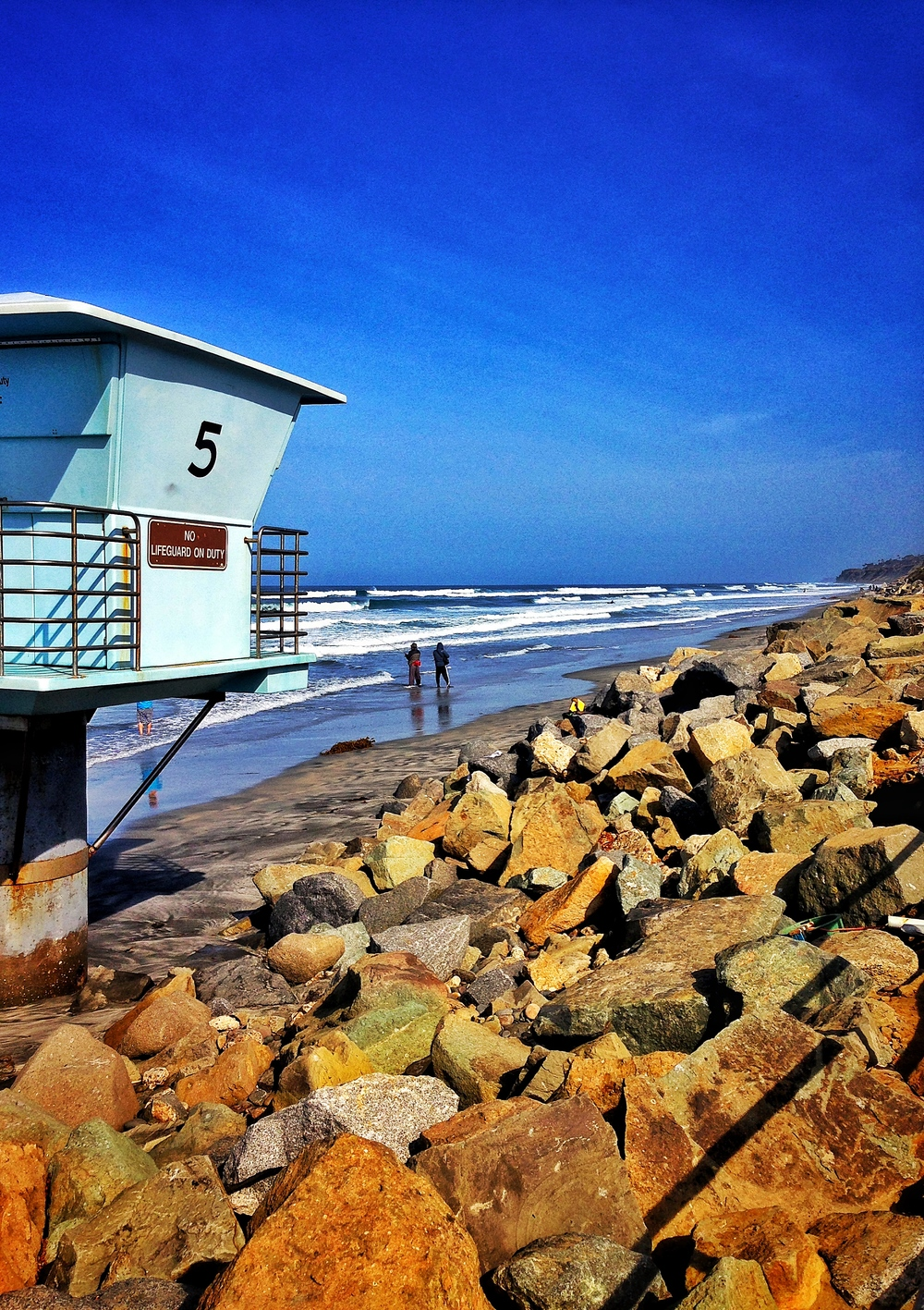 The San Diego coast is a great place to walk, hike, or jog from sunup to sundown.
