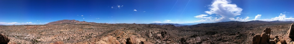 View from atop Mastodon Peak, Joshua Tree National Park
