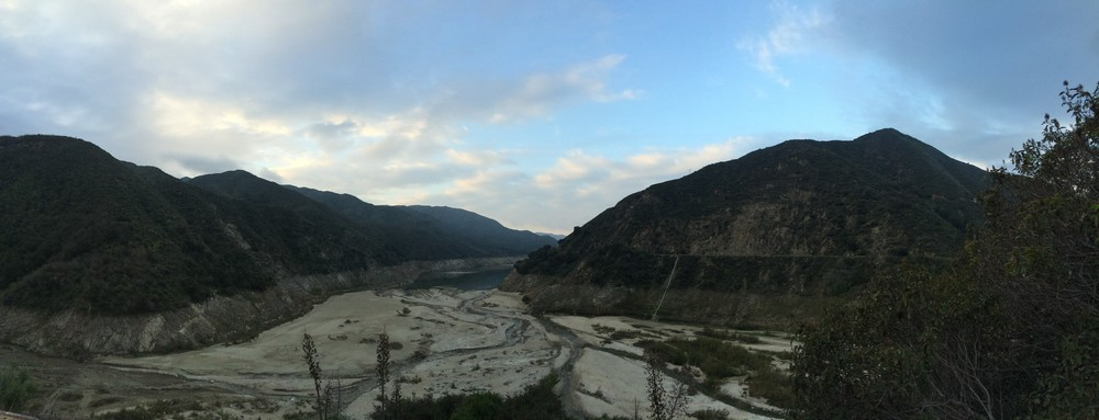 Sunrise, San Gabriel Mountains, San Gabriel River