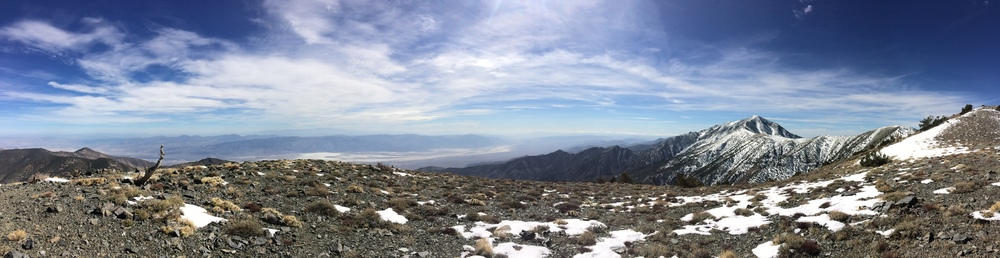 Telescope Peak, Bennett Peak, and Death Valley, March 2016