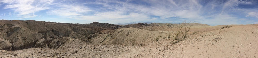 Mecca Hills Wilderness, above Ladder Canyon