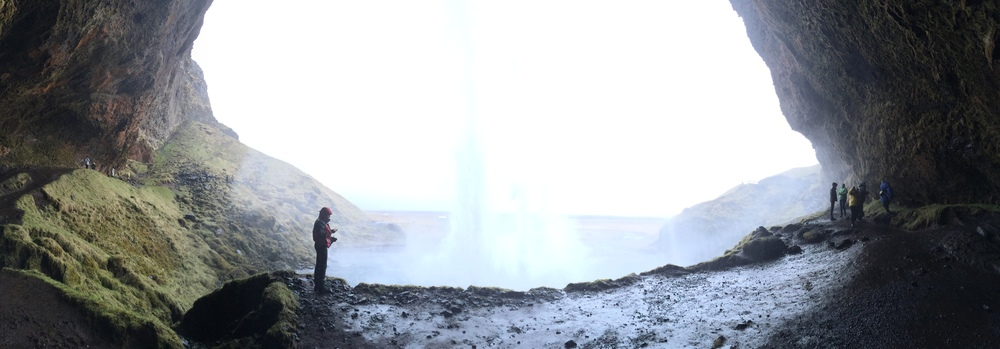 Seljalandsfoss: the only Icelandic waterfall one can stand behind.