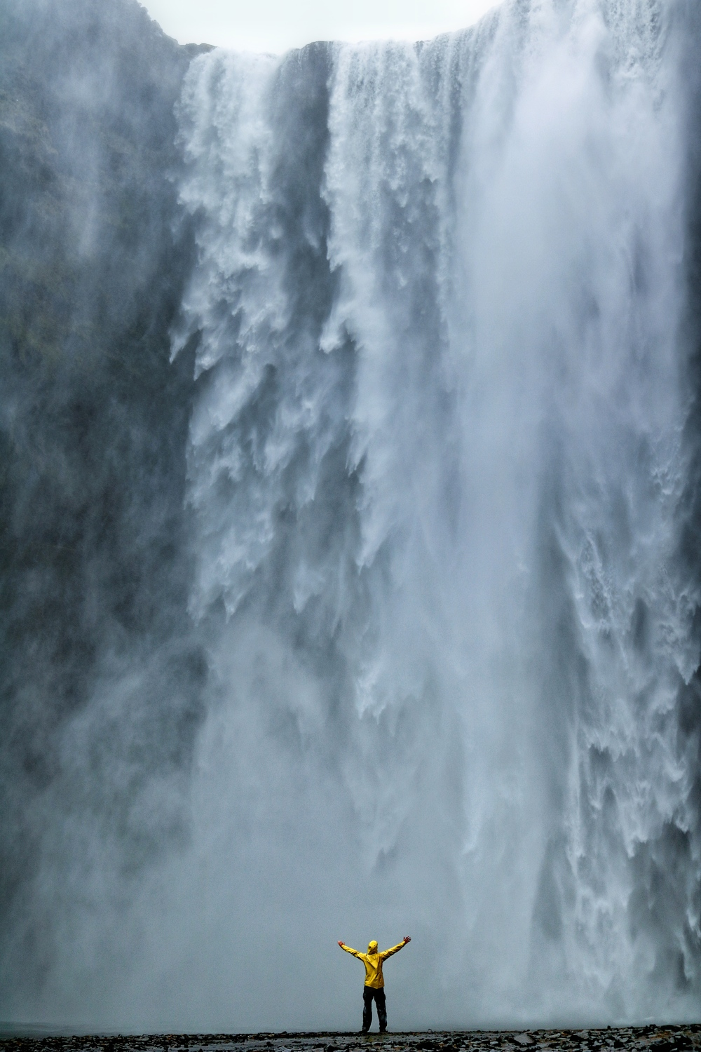 Skogafoss: a waterfall with pure power, and with an interesting bit of mythology to boot.