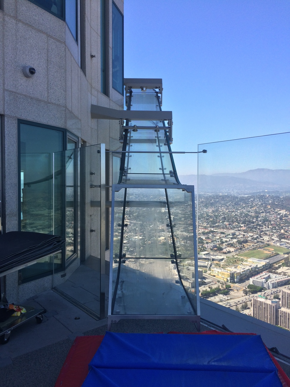 The Skyslide is a one-of-a-kind attraction that connects the buildings 69th and 70th floors.