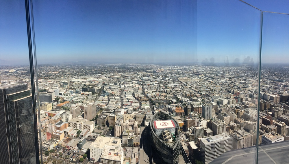 Los Angeles, as seen from the 69th Floor of the U.S. Bank Skyspace Observation Deck.