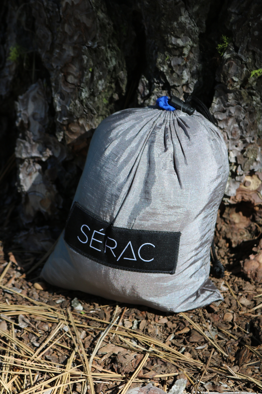 The Serac Classic Camping Hammock breaks down and fits in a lightweight bag.