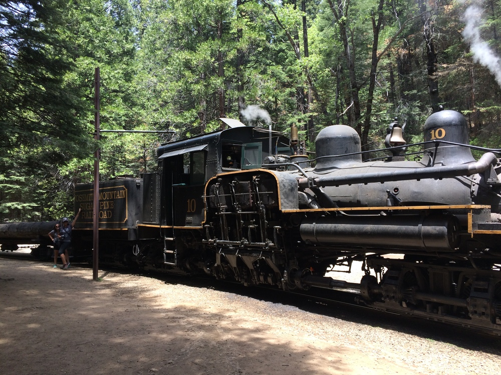 One of the Yosemite Mountain Sugar Pine Railroad's Locomotives