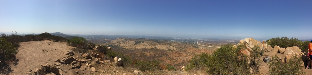 Summit panorama, North Fortuna Mountain