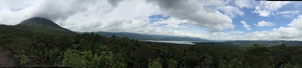 Arenal Lake, viewed from the Lava Flow Summit in Arenal 1968