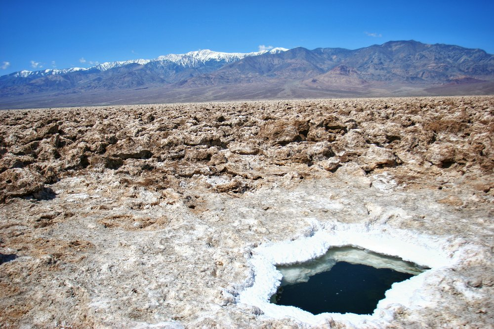 Death Valley has many secrets, such as the saline pools in and around the Devil's Golf Course