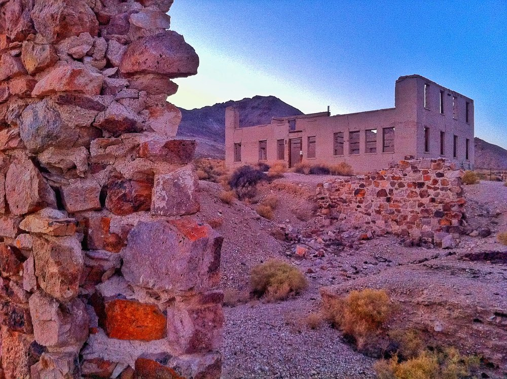Rhyolite, Nevada - a real wild west ghost town.
