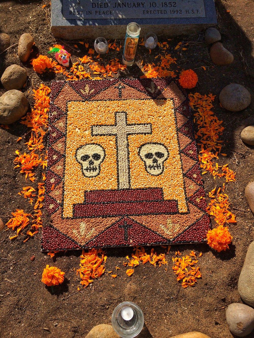 El Campo Santo, decorated for El Dia De Los Muertos