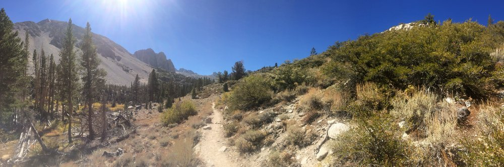 Slightly before First Lake, North Fork Big Pine Creek