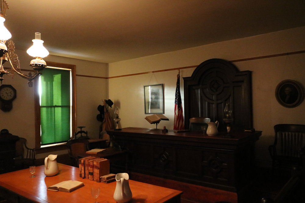 Whaley House Courtroom - the location of San Diego's second county courthouse.