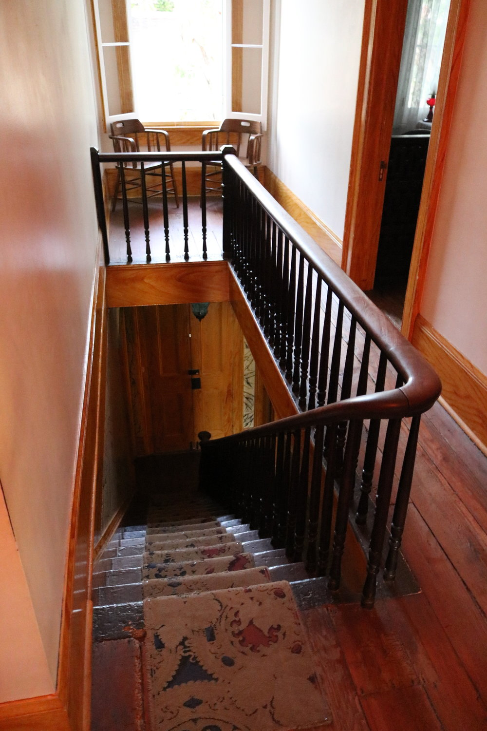 Thomas Whaley, the owner of the house, is rumored to stand regularly atop this staircase and look down at something of an indeterminate nature.