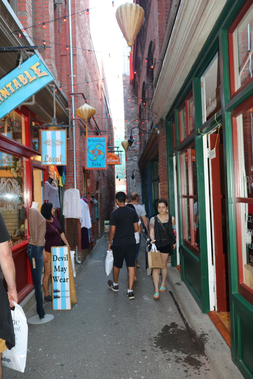 Once a place of ill-repute, Fan Tan Alley is now a tourist hotspot with many shops.