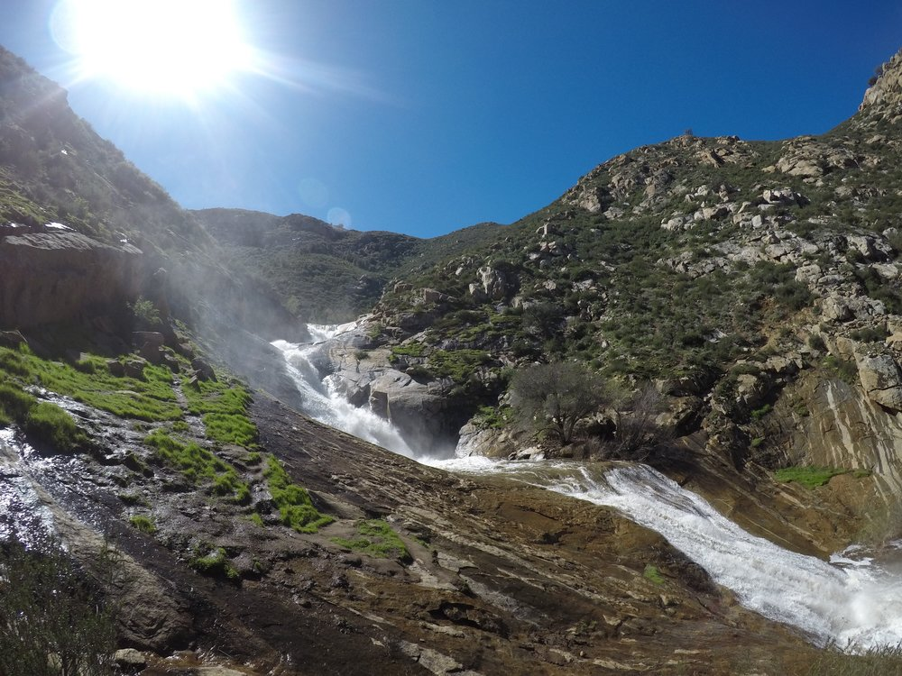 Three Sisters Falls is San Diego's most popular waterfall, but is a challenging hike.