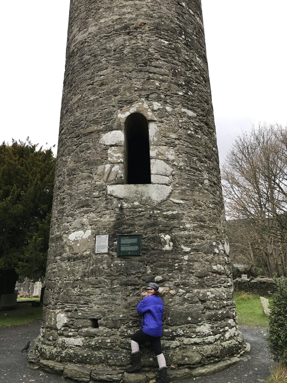 The entrance to the Round Tower was located some ten feet off of the ground to allow the monks a place of safe refuge in times of trouble.