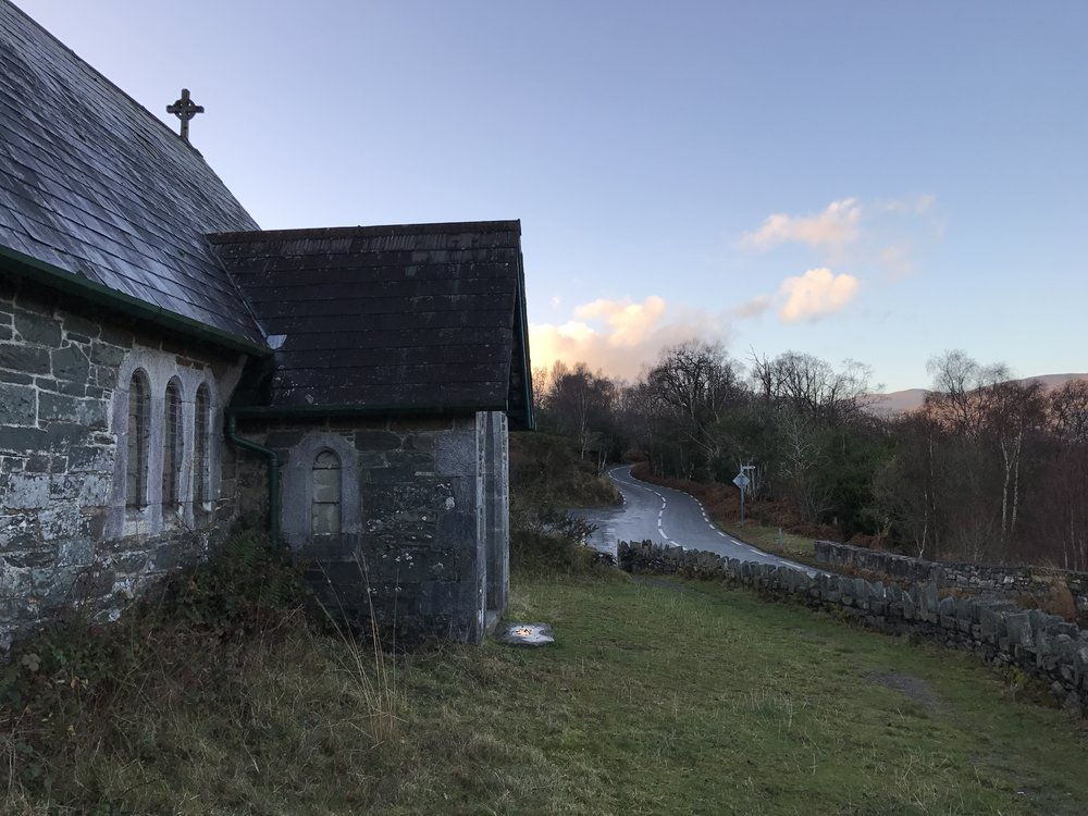Derrycunihy Church is a short walk from the ruins of the Mulgrave Barracks