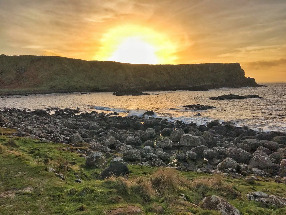 While walking to the Giant's Causeway, Portnaboe Bay has some excellent views of the Northern Atlantic Coast of Ireland.