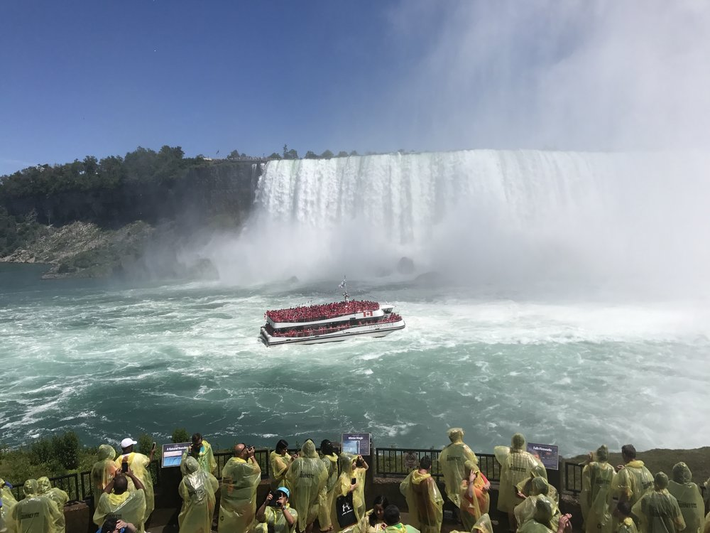 The Journey Behind the Falls experience offers excellent views of all three waterfalls that make up Niagara Falls as a whole.